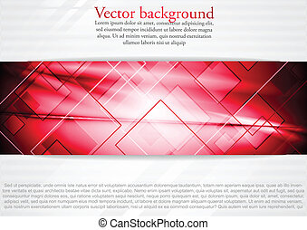 Bright red vector background - Abstract technology...