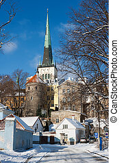 Old town. Tallinn, Estonia - Winter in old town of Tallinn....