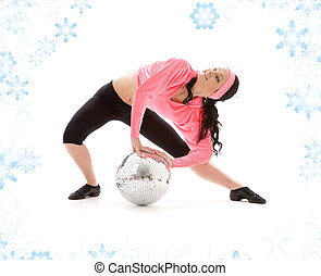 disco ball dancer - picture of dancer girl with glitterball...