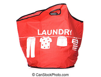 red Laundry carry bag cut out - red Laundry carry bag studio...