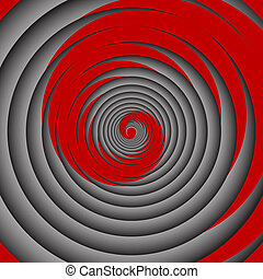 Spiral motion Vector art