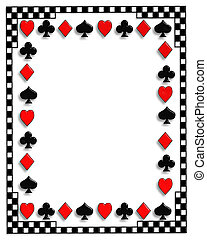 Playing Cards border Poker - Playing Cards suits background,...