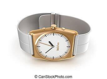 Golden wrist watch. My own design.