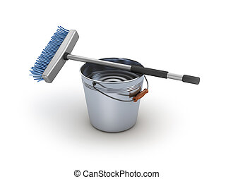 Cleaning equipment Bucket and mop