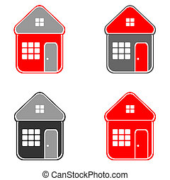 House icons Vector art