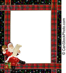Christmas Santa ribbons border - Image and Illustration...