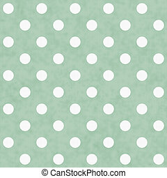 Green and White Polka Dot Fabric Background that is seamless...
