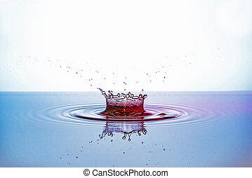 Wassertropfen Krone - Wassertropfen wird zur Krone