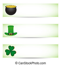 St. patrick's day banners - Collection of St. patrick's day...