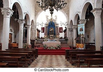Altar in the Church of Assumption of the Blessed Virgin Mary...