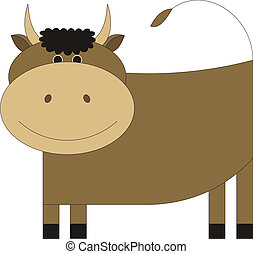 Bull 1 - The young bull costs and smiles At it on a head...