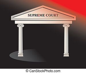 court - Supreme Court Building. Illustration.