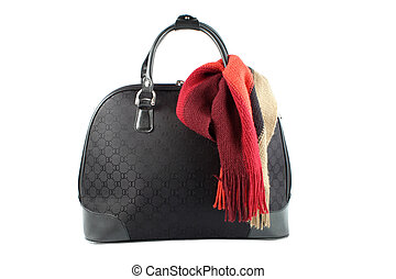 weekend getaway bag - small suitcase with scarf in shades of...