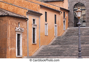 Stairway Rome - Stairway to museum at Capitoline Hill in...
