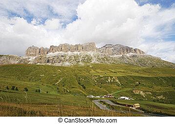 Dolomites Mountain Pass - Mountain Pass in the Dolomites...