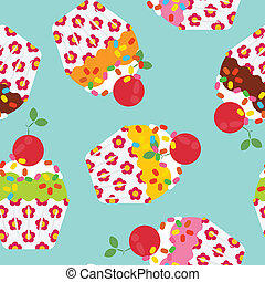 Seamless cake pattern - seamless cake pattern isolated on...