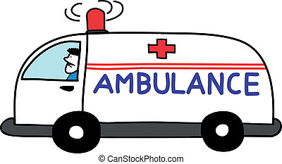 ambulance car open sirens