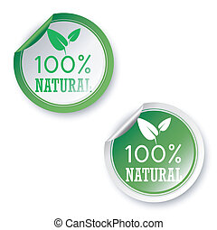 100% natural stickers