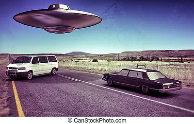 ufo in the desert - ufo in the desert