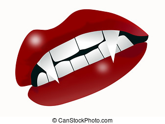 Vampire mouth - An illustration of a mouth with vampire...