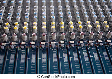 Audio Mixing console - Selective focus of audio mixing...