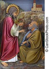 Christ Handing the Keys to St Peter