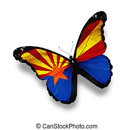Flag of Arizona butterfly, isolated on white