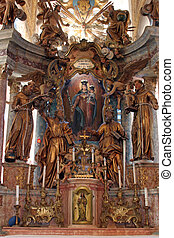 Church altar - The main altar in the Church of the Blessed...