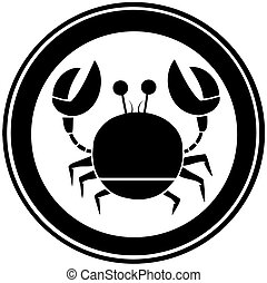 Black Circle Crab Logo