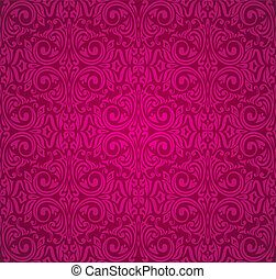 red vintage wallpaper design