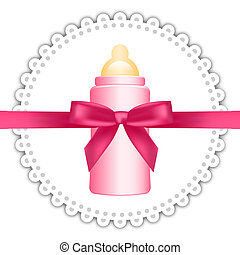 Vector background with baby bottle