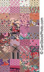 rose quilt background