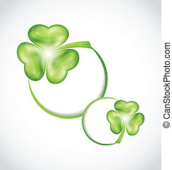Shamrock bubbles for Saint Patrick day - Illustration...