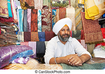 adult indian sikh seller man