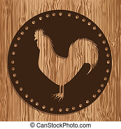 Farm Animals - Illustration of Farm Label. Farm Animals...