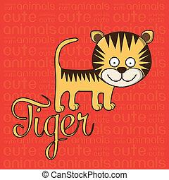 Cute tiger - Illustration of Cute Animals Tiger illustration...