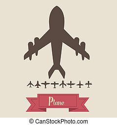 Airplane icons - Illustration of airplane icons Silhouettes...