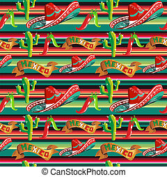 Mexican typical pattern - Mexico seamless pattern with...