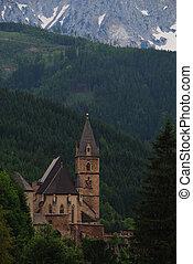 church in the mountain portrait