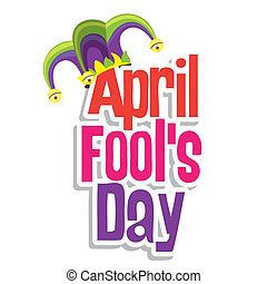 April Fool's Day - Illustration of a jester hat. April Fools...