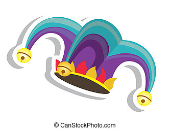 Jester hat - Illustration of a jester hat. April Fools Day....