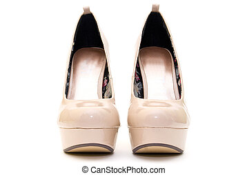 High Heels with inner platform sole - pantent leather