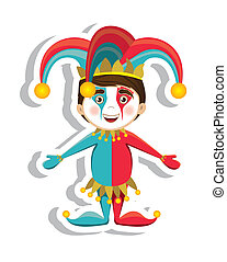Jester illustration - Illustration of a joker, April Fools...