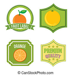 citrus fruit label over isolated background. vector...