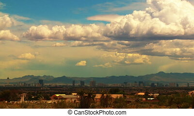 Las Vegas Horizon 02 Time Lapse - Time lapse clouds passing...