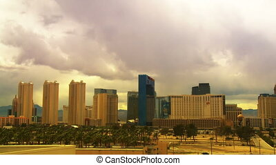 Las Vegas Hotels Time Lapse - Time lapse clouds passing over...