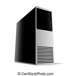 Computer Case  isolated on a white background