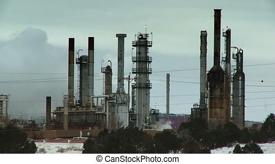 Refinery Pollution - Refinery emitting smoke in New Mexico...