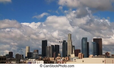 LA Clouds 02 Time Lapse - Clouds passing over the LA skyline...