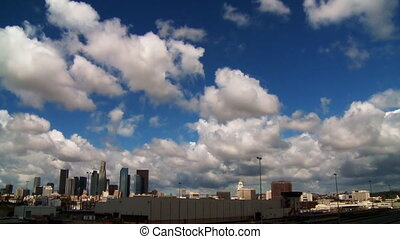 LA Clouds 03 Time Lapse - Clouds passing over the LA skyline...